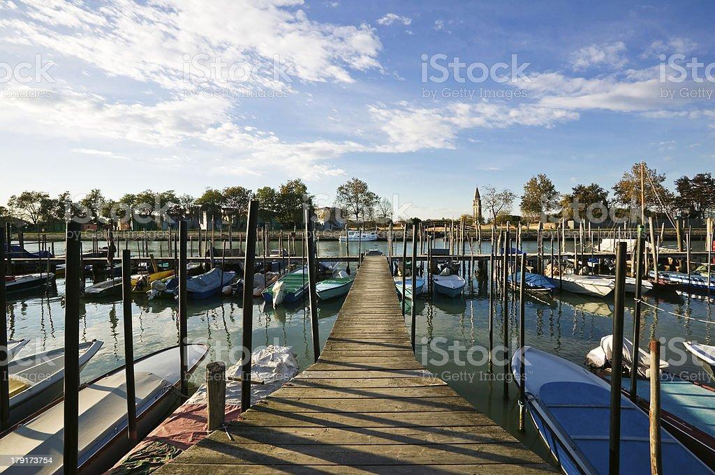 Port n Burano, Venice stock photo