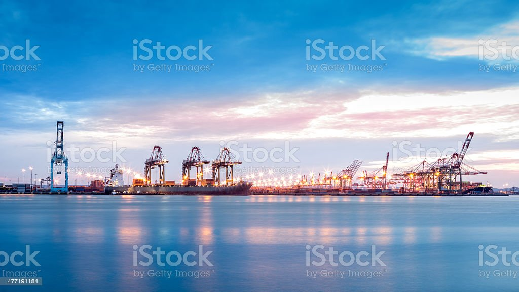 Port Newark-Elizabeth marine terminal stock photo