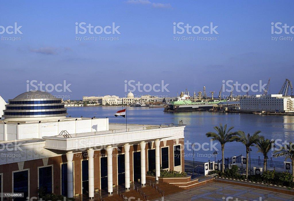 Puerto de Alejandría, Egipto - foto de stock