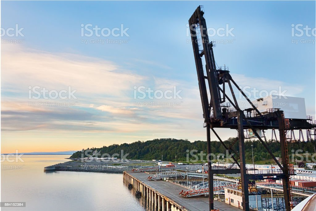 Port of Anchorage, Alaska. stock photo