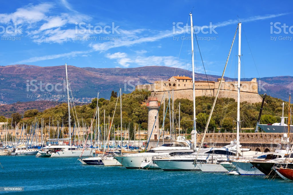 Port of Antibes, France. stock photo
