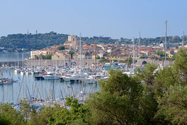 Port of Antibes in France stock photo