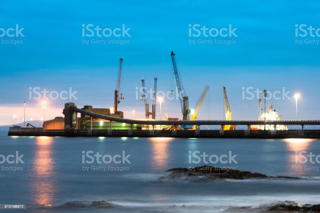 Port of Antofagasta stock photo
