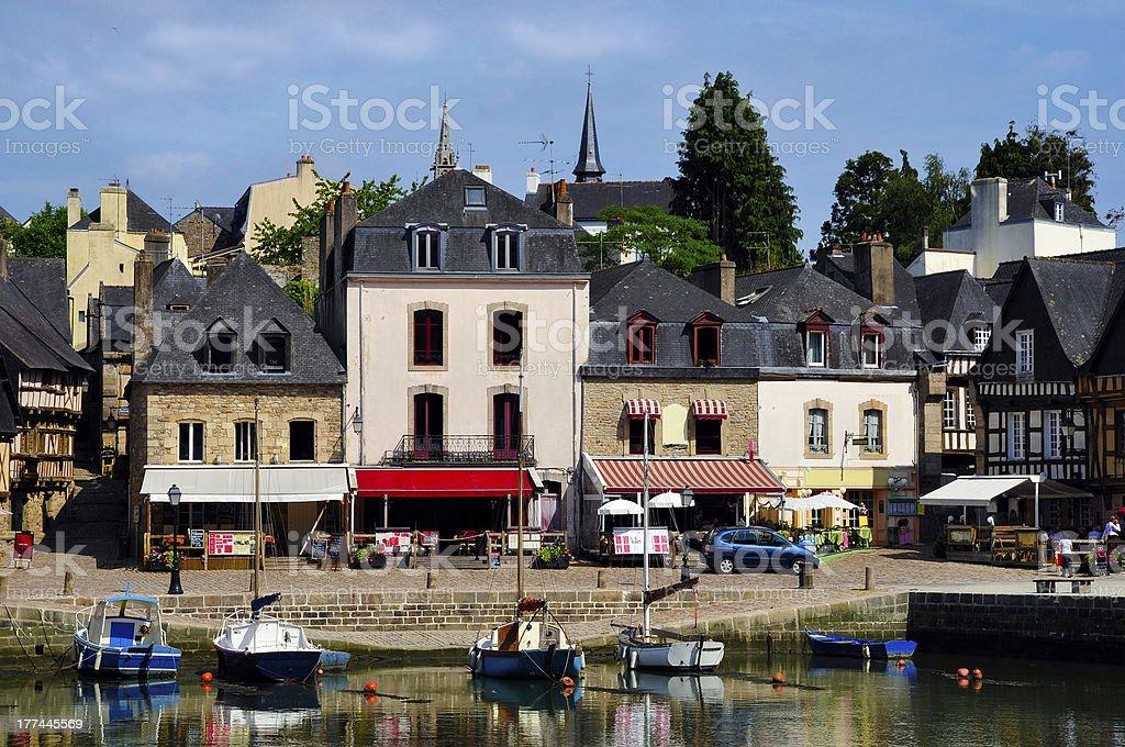 Puerto de Auray en Francia - foto de stock