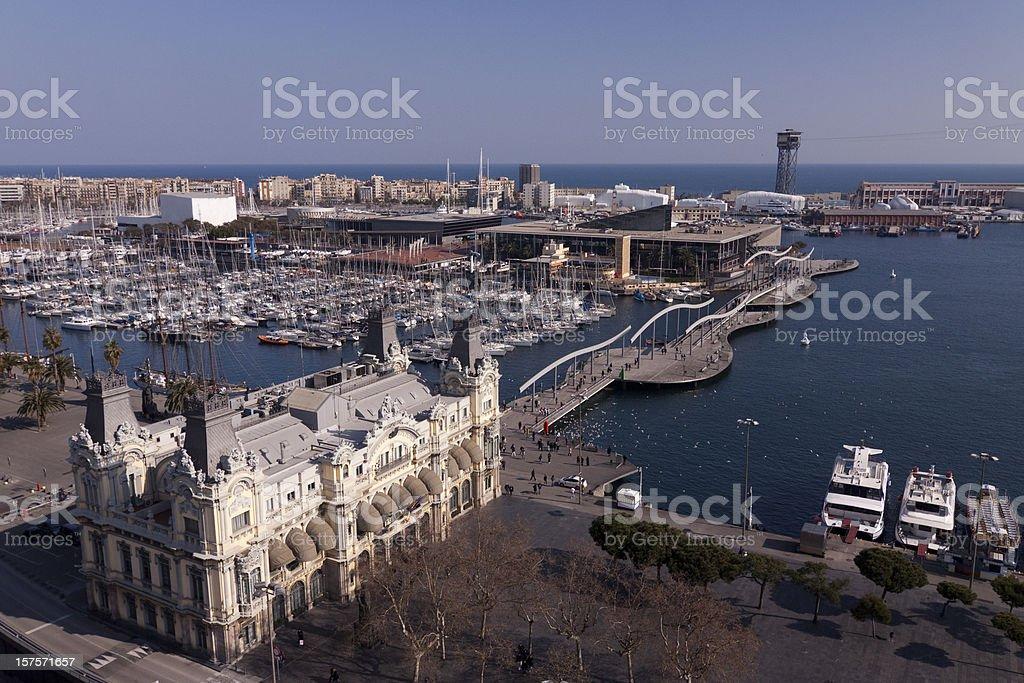 Port of Barcelona, Spain royalty-free stock photo