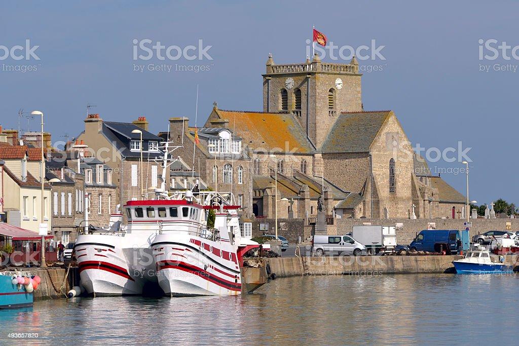 Port of Barfleur in France stock photo