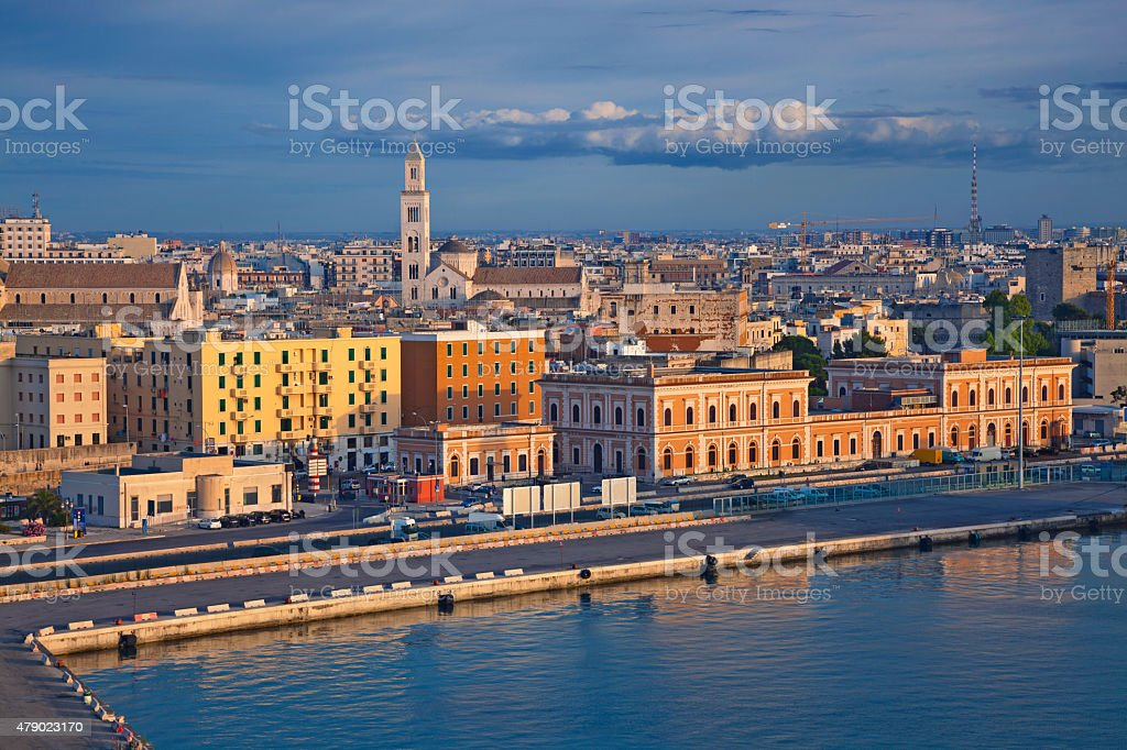 Port of Bari. stock photo