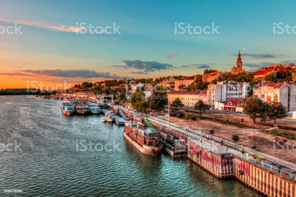port of Belgrade stock photo