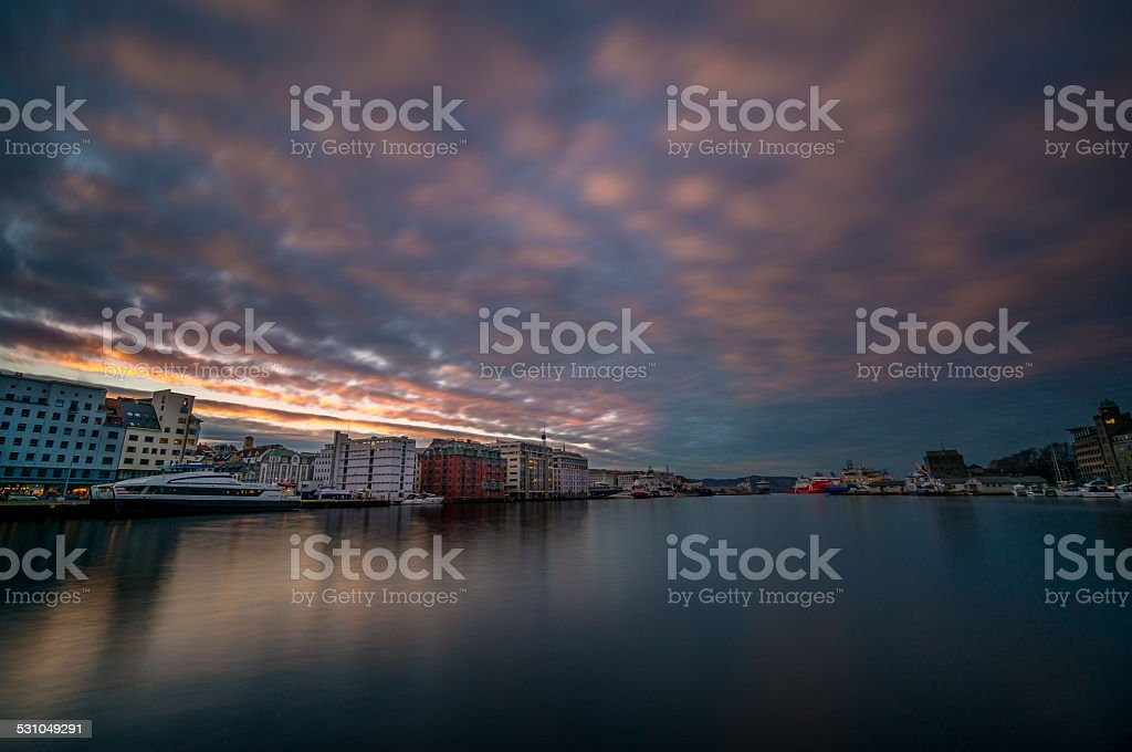 Port of Bergen, Norway stock photo