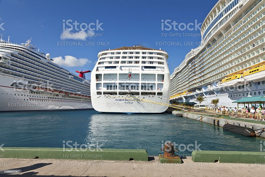 Port of call Nassau, Bahamas stock photo