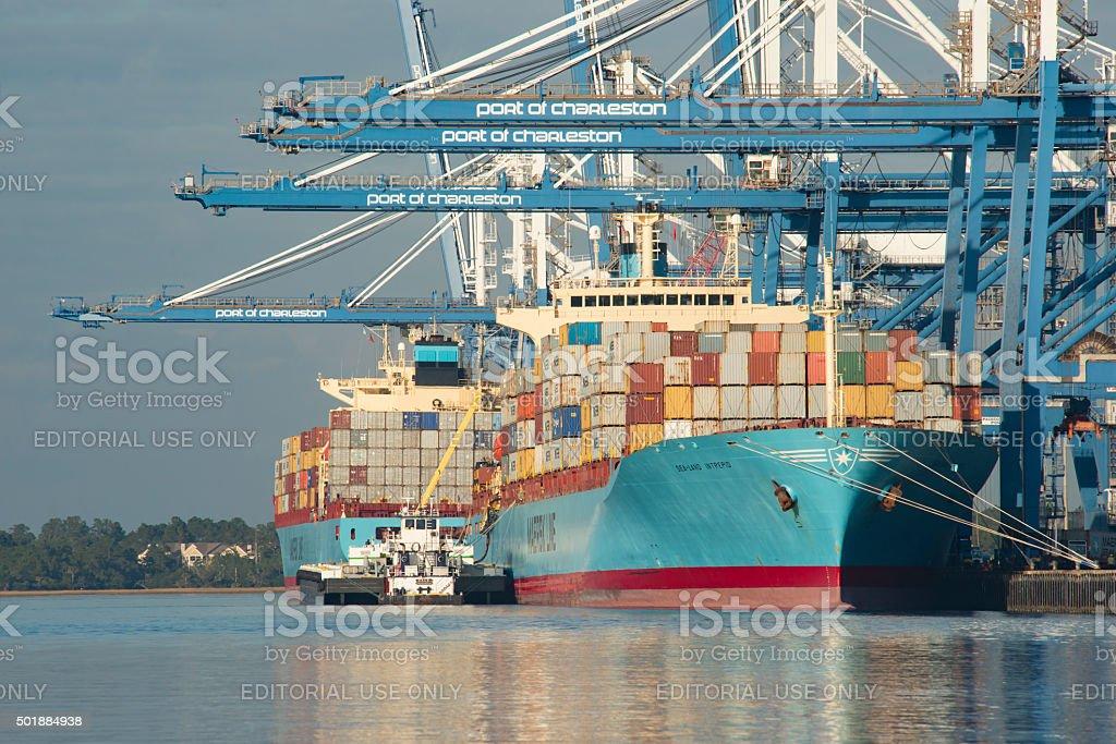 Port of Charleston 3 stock photo
