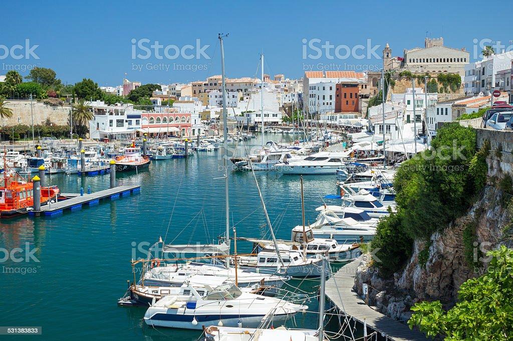Port of Ciutadella, Menorca stock photo