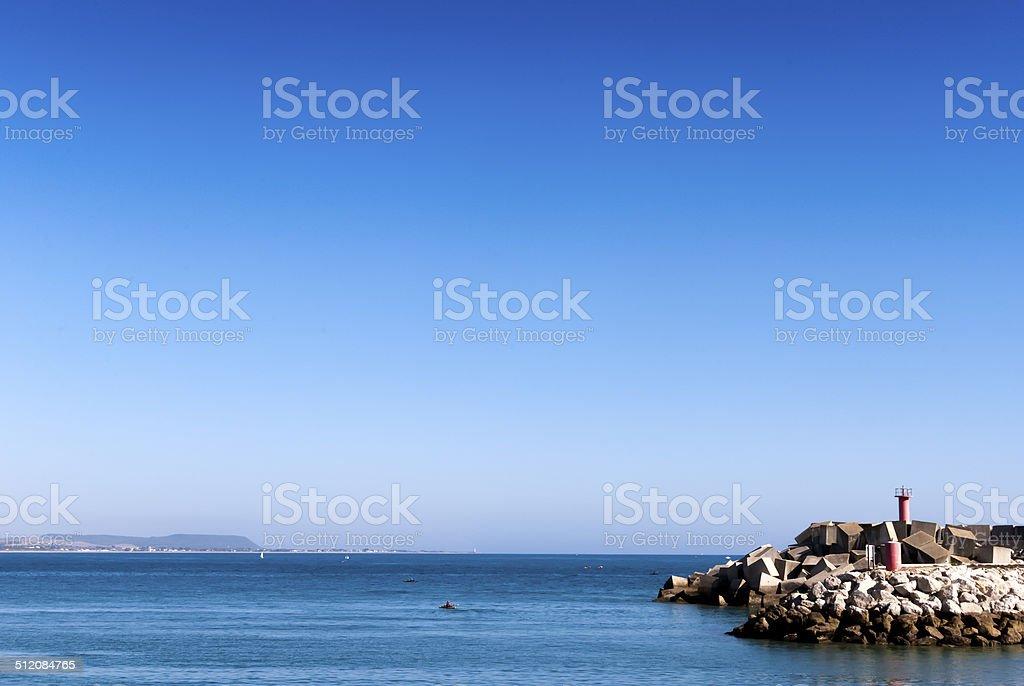 Port of Conil de la Frontera, Cadiz, Andalucia. stock photo