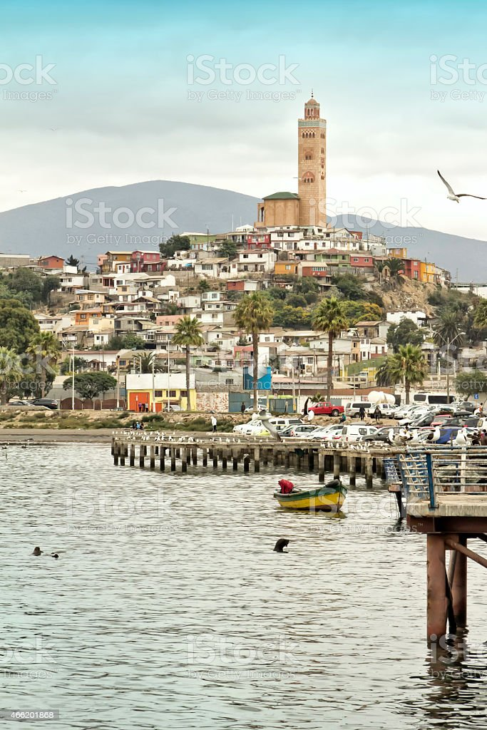 Port of Coquimbo, Chile. stock photo