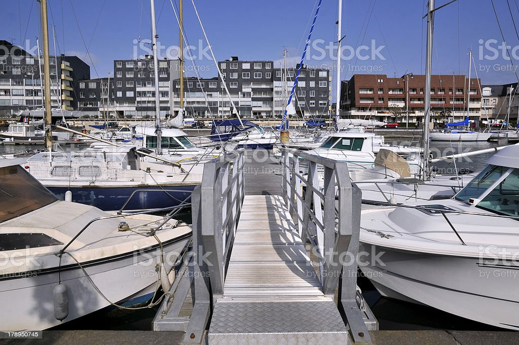 Port of Courseulles sur Mer in france royalty-free stock photo
