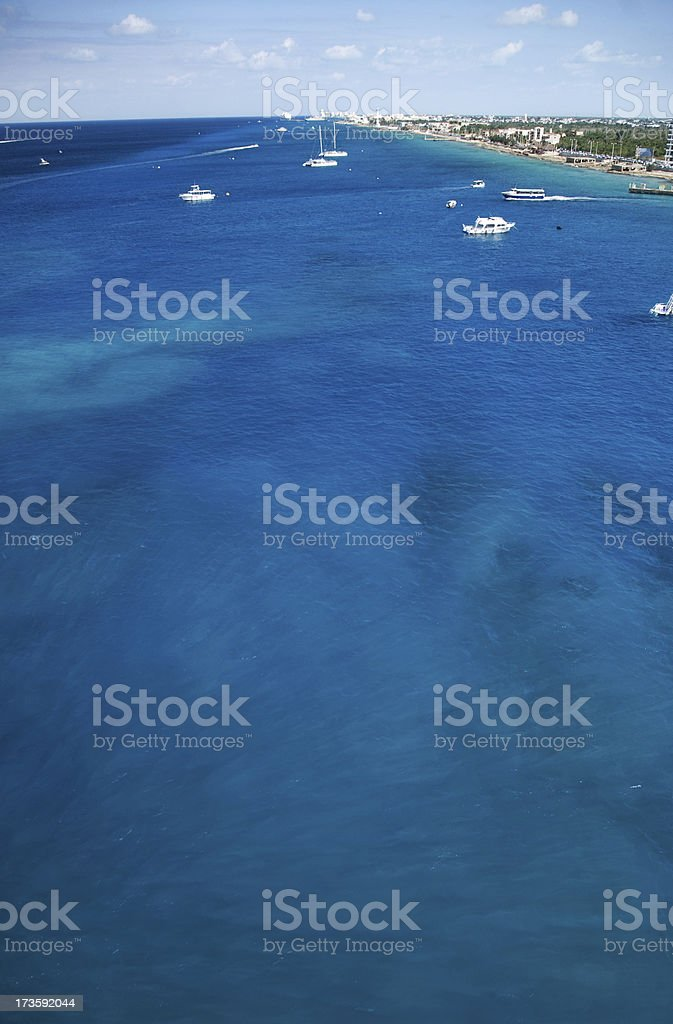 Port of Cozumel royalty-free stock photo