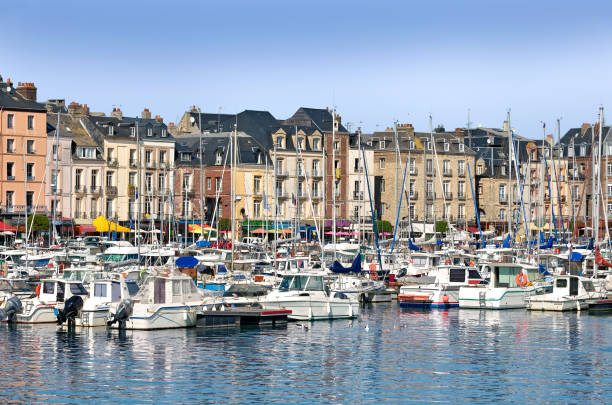 Port of Dieppe in France Port and town of Dieppe, a commune in the Seine-Maritime department in the Haute-Normandie region in northwestern France dieppe france stock pictures, royalty-free photos & images