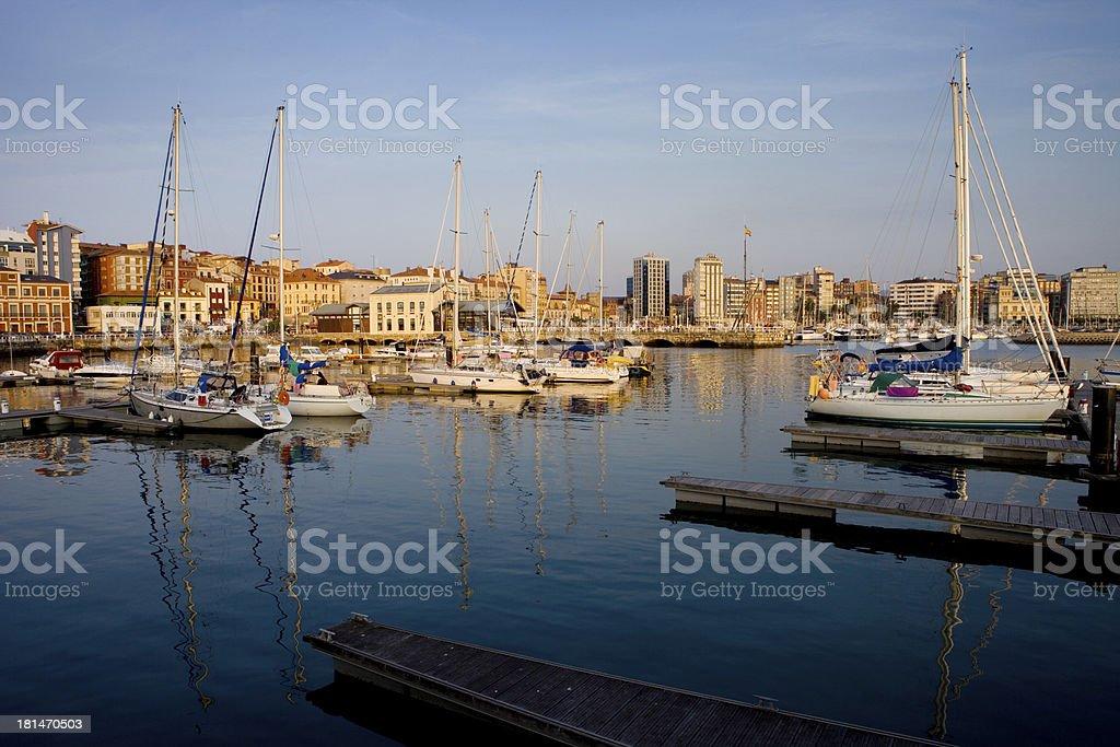 Port of Gijón. stock photo
