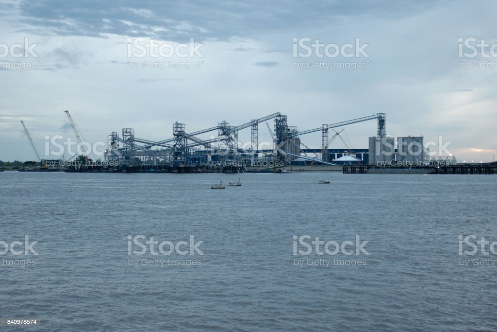 PORT ALLEN, LOUISIANA, USA - 2013: Port of Greater Baton Rouge, by the Mississippi river. stock photo