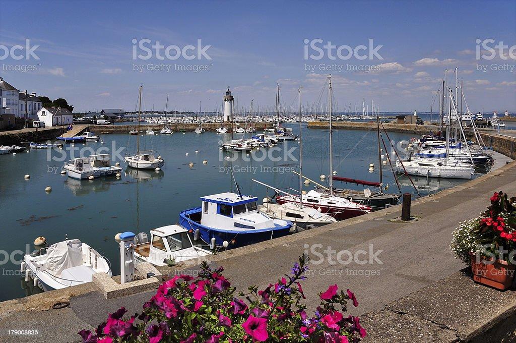 Port of Haliguen at Quiberon stock photo