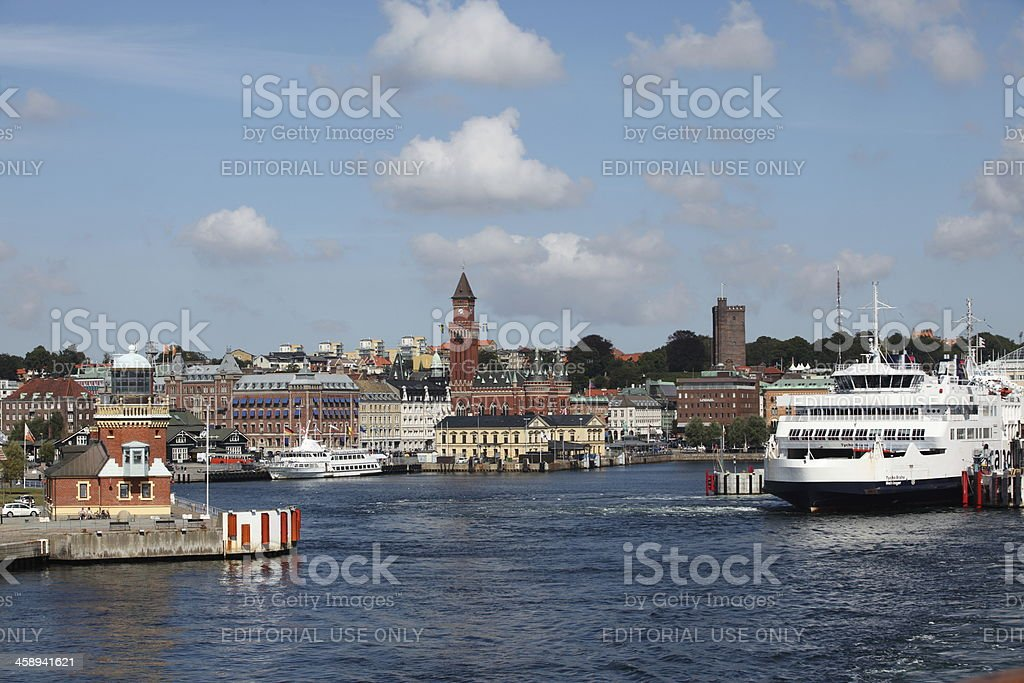 Port of Helsingborg stock photo