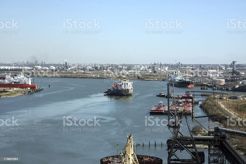 Port of Houston stock photo