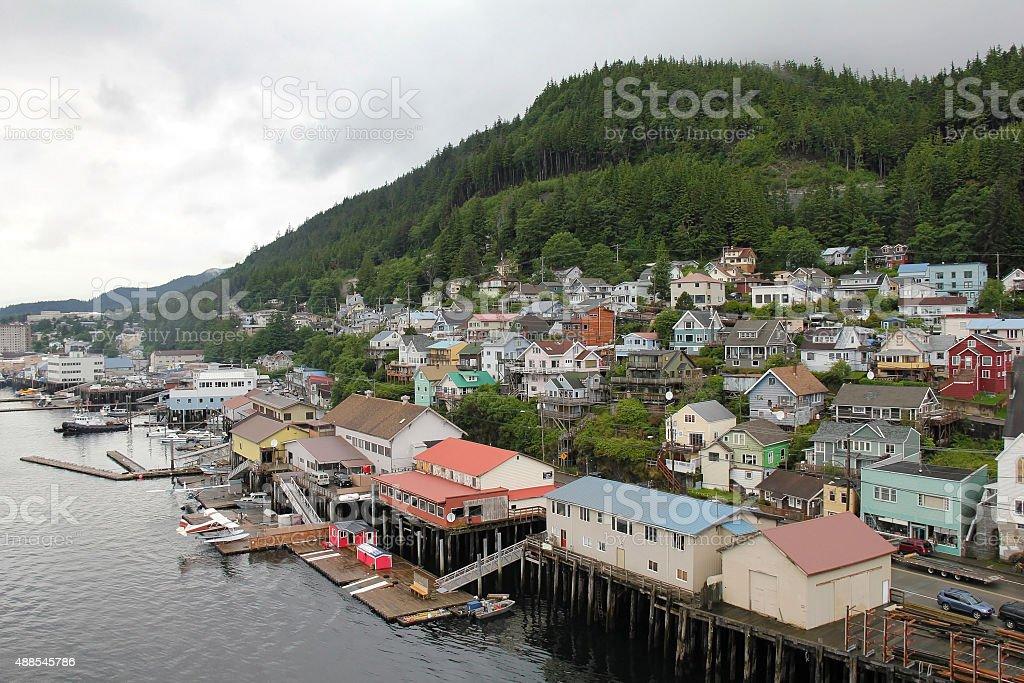 Port of Ketchikan in Alaska royalty-free stock photo