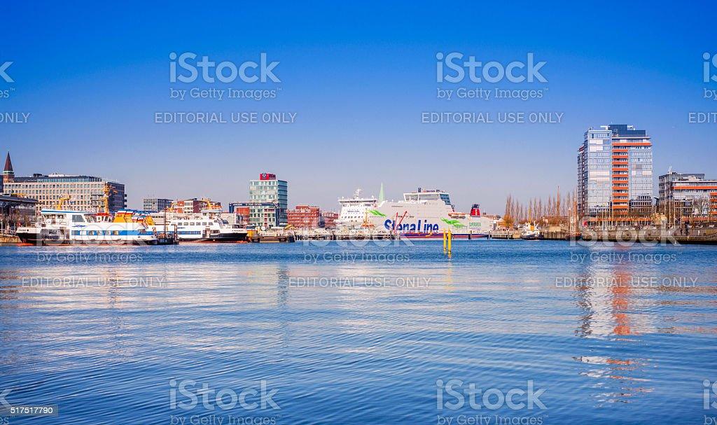 Port of Kiel, Schleswig-Holstein (Germany) stock photo