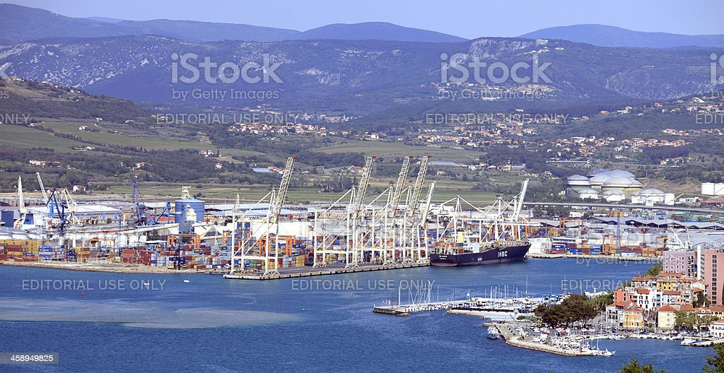 Port of Koper - Capodistria, Slovenia stock photo