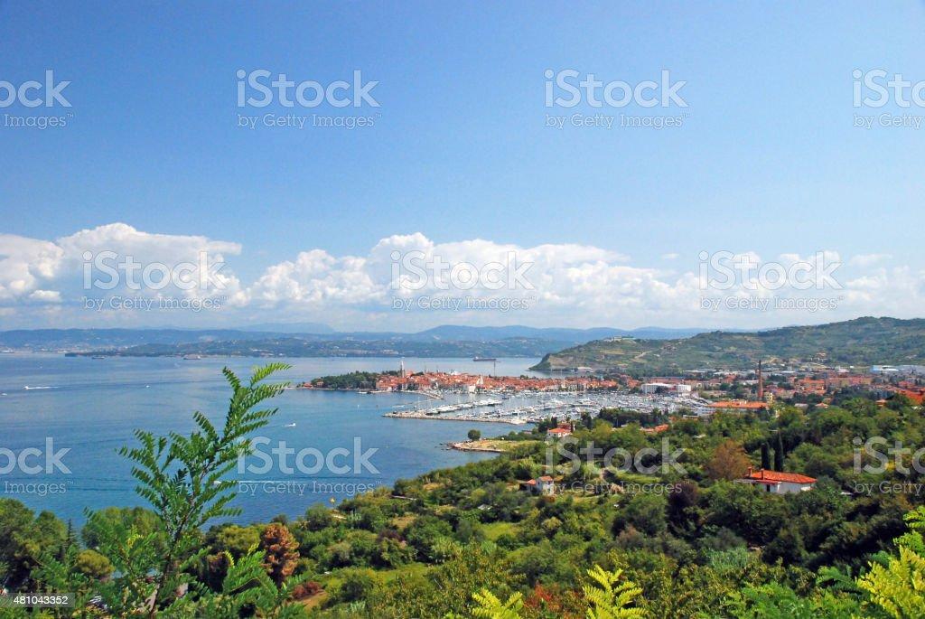 Port of Koper in Slovenia stock photo