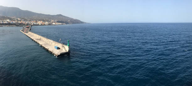 Port of La Palma, from the sea stock photo