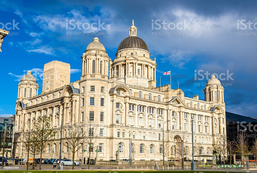 Port of Liverpool Building - England, UK stock photo