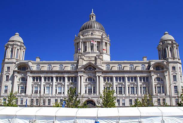 Port Of Liverpool Building stock photo
