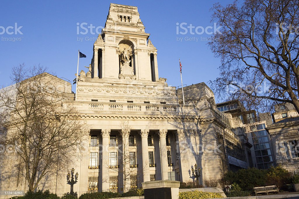 Port of London Authority Building in England, UK royalty-free stock photo