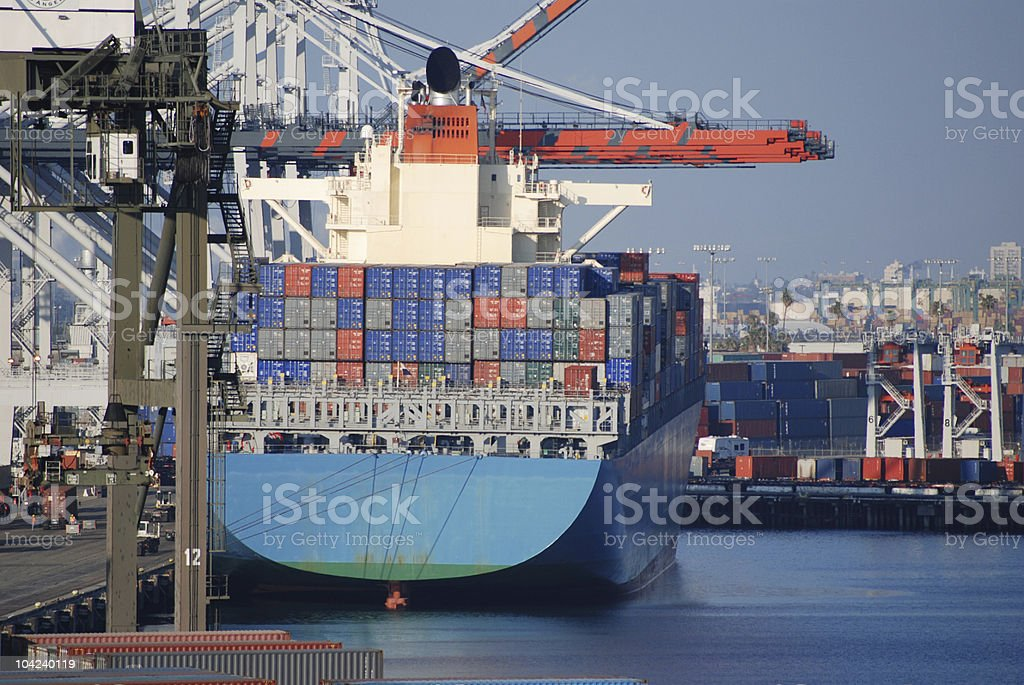 Port of Los Angeles royalty-free stock photo