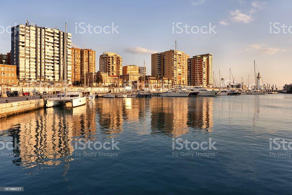 Port of Malaga royalty-free stock photo