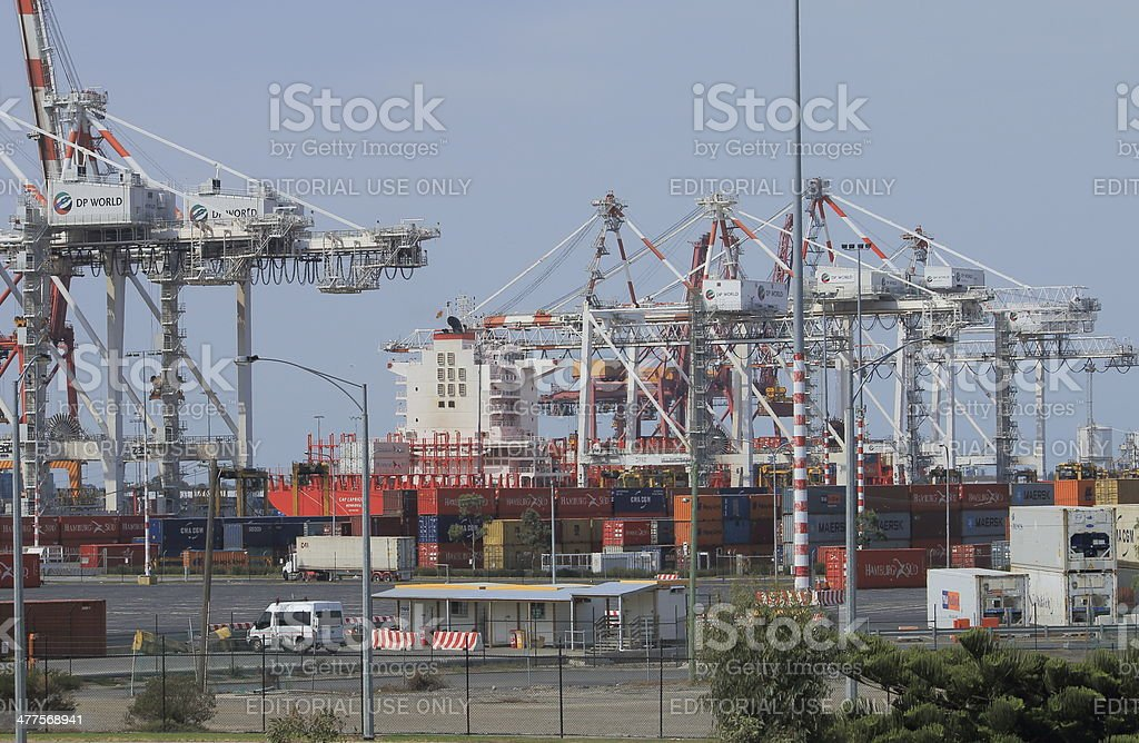 Port of Melbourne dock royalty-free stock photo