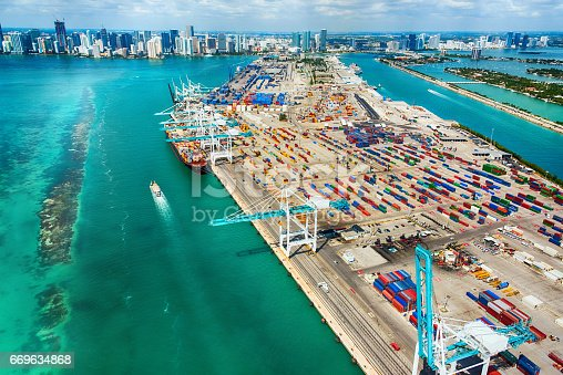 istock Port of Miami Aerial View 669634868