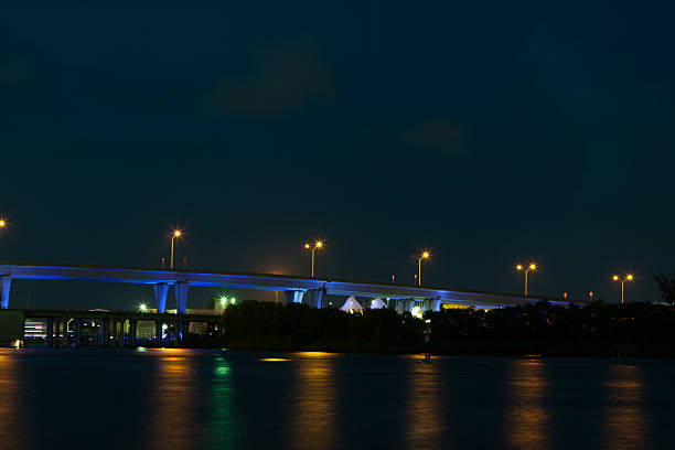 Port of Miami Bridge stock photo
