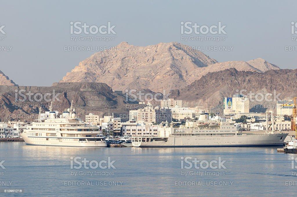 Port of Muscat, Oman stock photo
