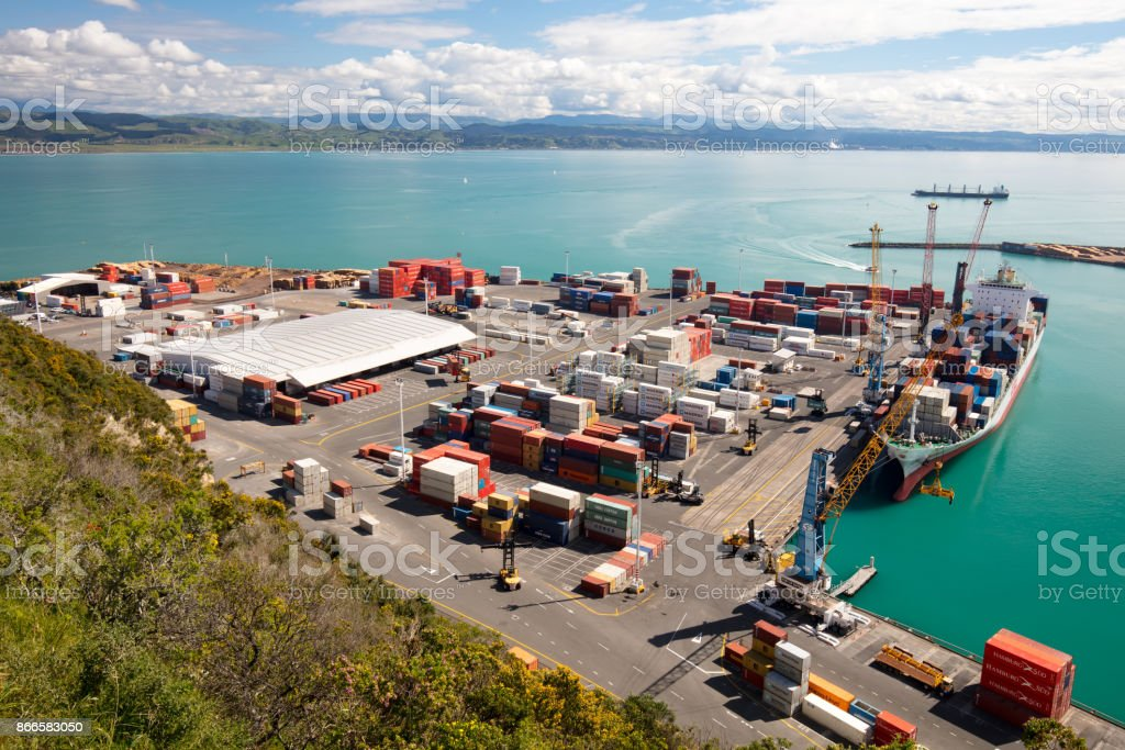 Port of Napier stock photo