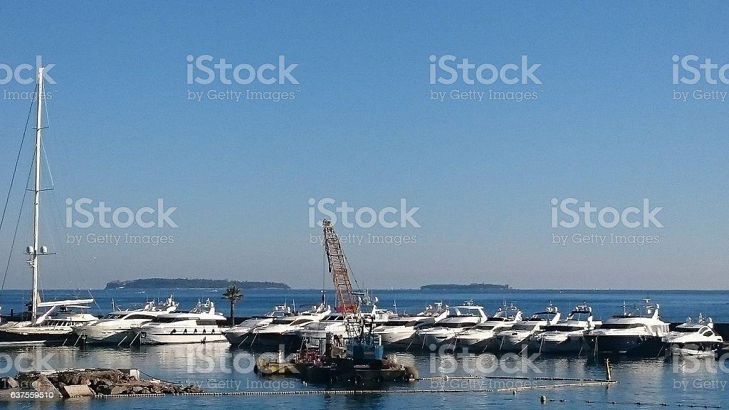 Port de la napoule stock photo