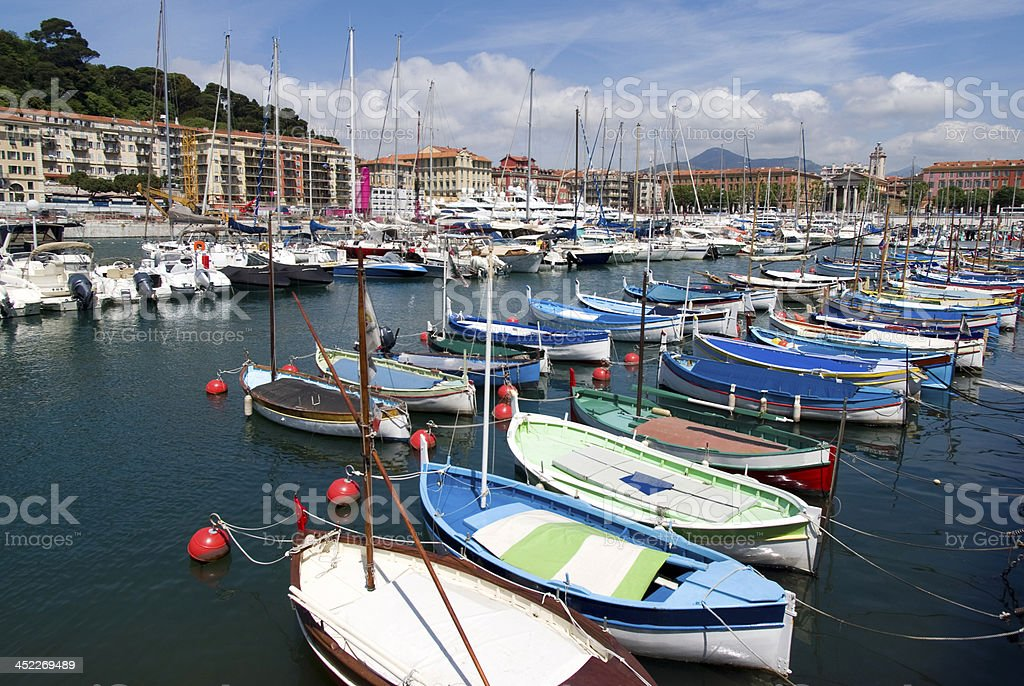 Port of Nice, French Riviera royalty-free stock photo