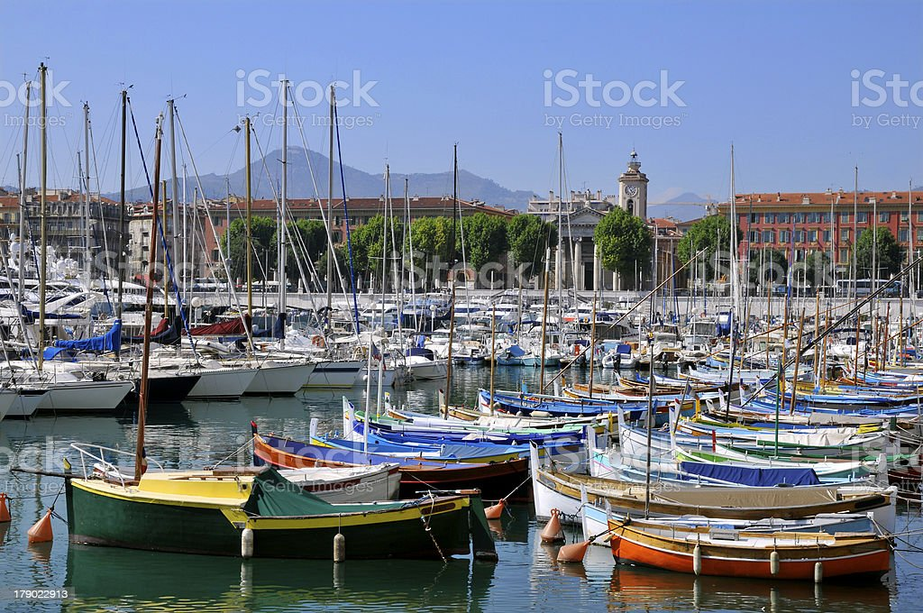 Port de Nice in France royalty-free stock photo