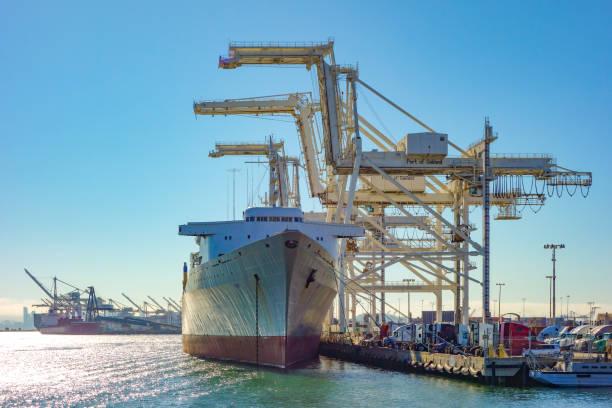 puerto de oakland, california - oakland fotografías e imágenes de stock