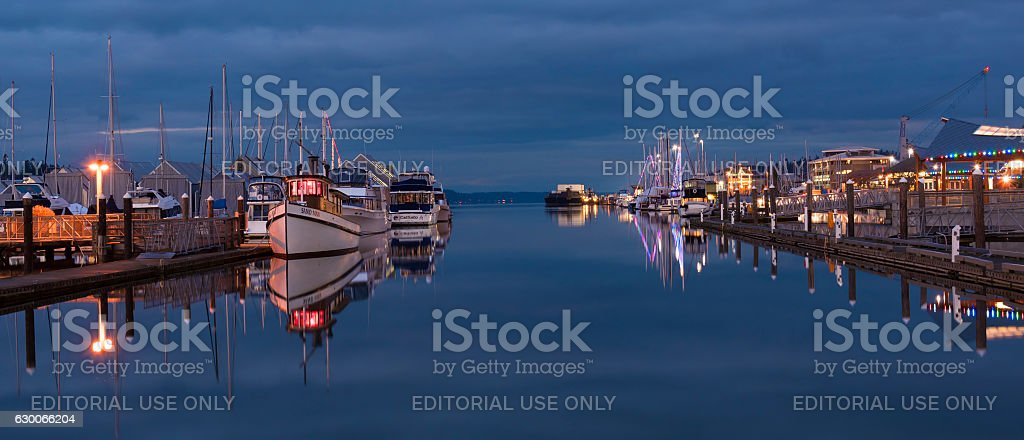 Port of Olympia stock photo