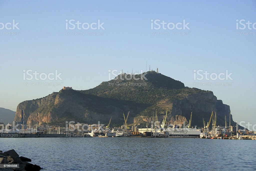 port of palermo royalty-free stock photo