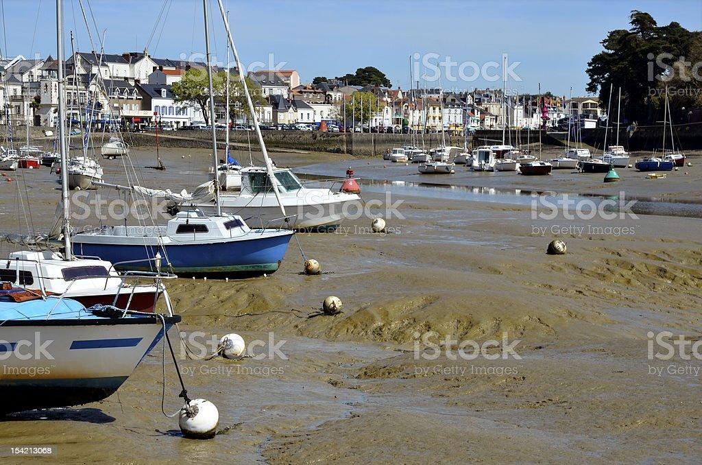 Port of Pornic in France stock photo
