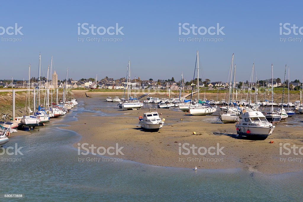 Port of Port-bail in France stock photo