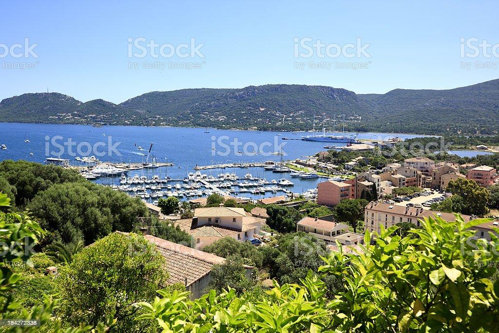 Port of Porto Vecchio, Corsica, France stock photo